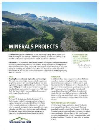 Minerals Projects Brochure (2016)