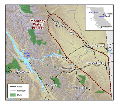 Montney Water Project Area