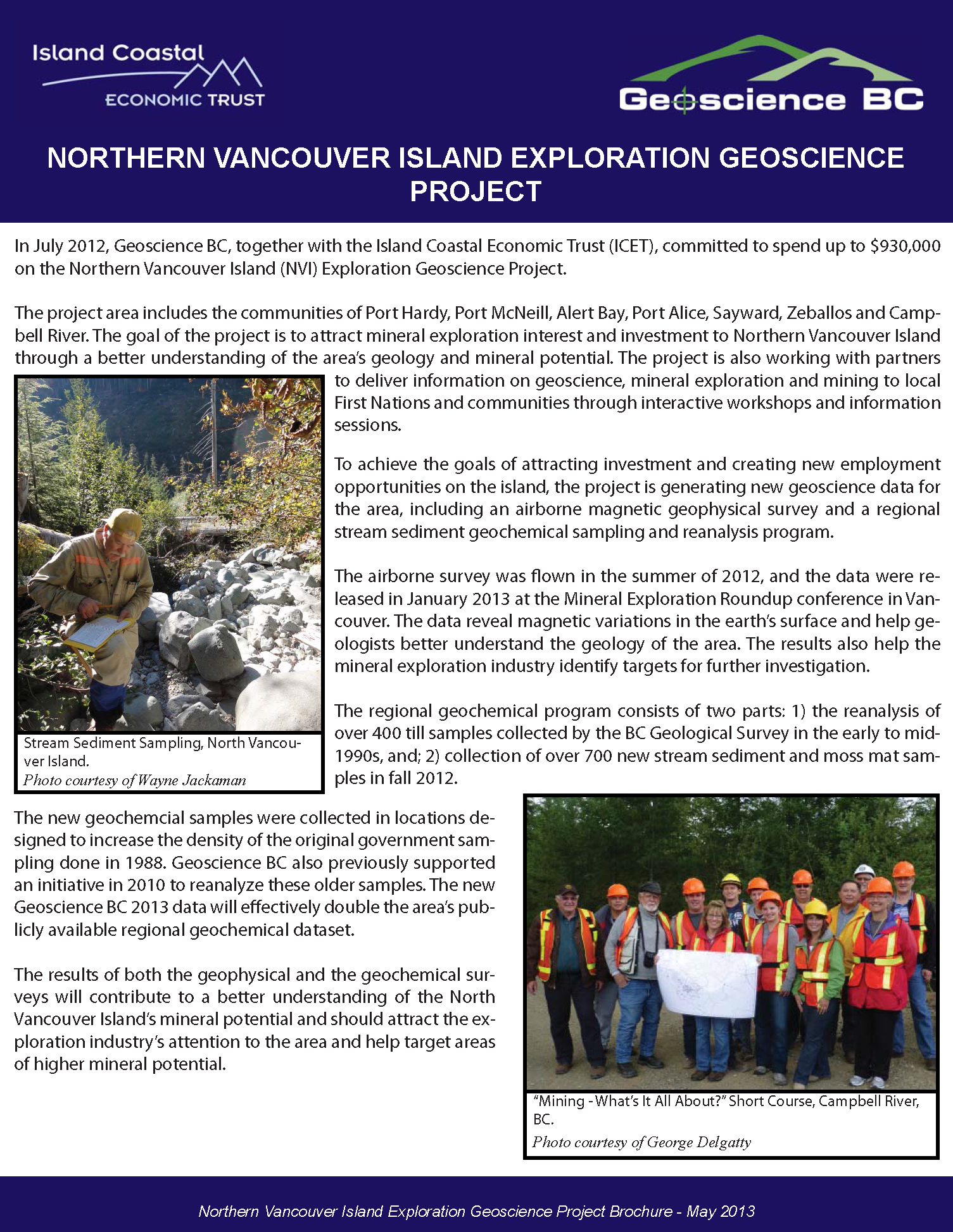 Northern Vancouver Island Exploration Geoscience Project (2013)
