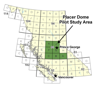 Placer Dome Pilot Study Area