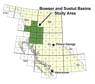 Bowser and Sustut Basins Study Area