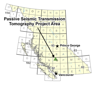Passive Seismic Transmission Tomography Project Area