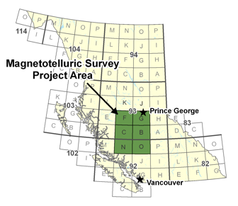 Magnetotelluric Survey Project Area