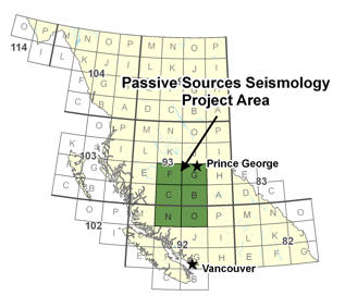 Passive Sources Seismology Project Area