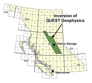 QUEST Geophysical Inversion Project Area