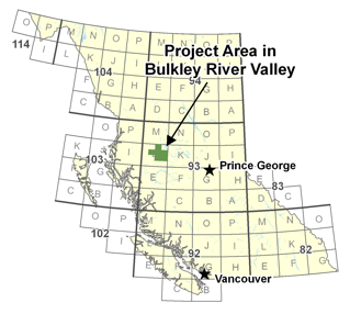 Project Area in Bulkley River Valley