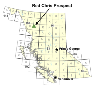 Red Chris Prospect location