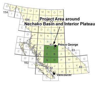 Nechako Basin and Interior Plateau Project Area