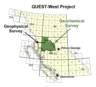 QUEST-West Project Area